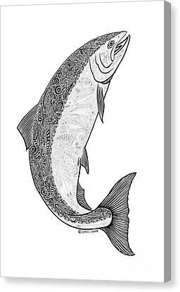 Salmon II Canvas Print by Carol Lynne