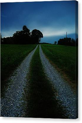 Stormy Road  Canvas Print by Maria Blumberg
