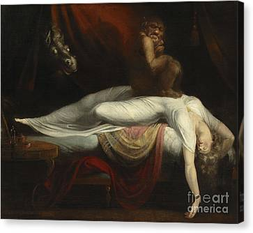 The Nightmare Canvas Print by Henry Fuseli