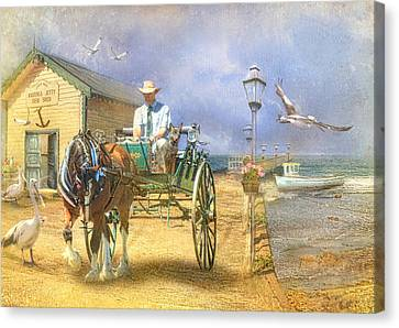 The Pelican Pantry Canvas Print by Trudi Simmonds