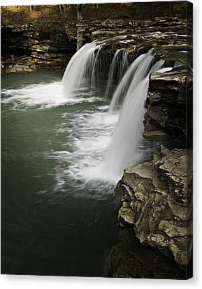 0804-0013 Falling Water Falls 4 Canvas Print by Randy Forrester