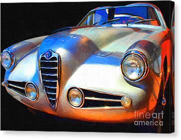 1955 Alfa Romeo 1900 Ss Zagato Canvas Print by Wingsdomain Art and Photography