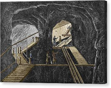 19th-century Mining Canvas Print by Sheila Terry