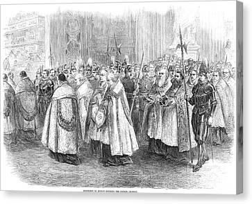 1st Vatican Council, 1869 Canvas Print by Granger