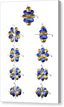 5g Electron Orbitals Canvas Print by Dr Mark J. Winter
