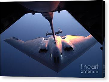 A B-2 Spirit Bomber Conducts Canvas Print by Stocktrek Images