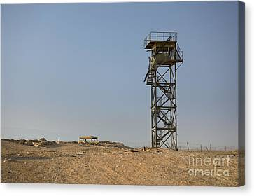 Abandoned Watchtower In The Desert Canvas Print by Noam Armonn