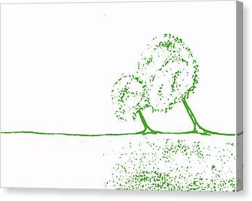 Abstract Tree Art By Shawna Erback Canvas Print by Shawna Erback
