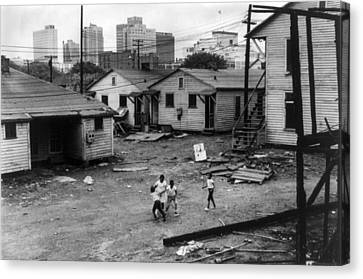 African American Children Playing Canvas Print by Everett