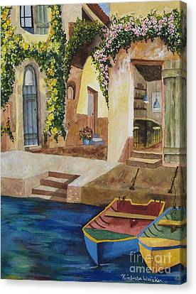 Afternoon At The Piazzo Canvas Print by Kimberlee Weisker