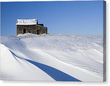 Alberta, Canada Abandoned Farm Building Canvas Print by Philippe Widling