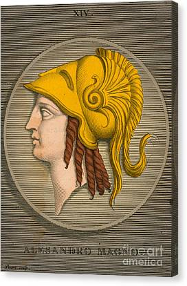 Alexander The Great, Greek King Canvas Print by Science Source