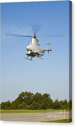 An Mq-8b Fire Scout Unmanned Aerial Canvas Print by Stocktrek Images