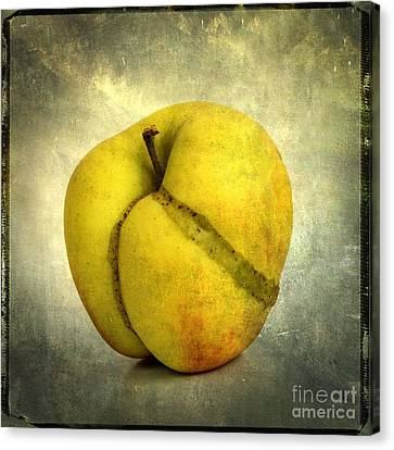 Apple Textured Canvas Print by Bernard Jaubert
