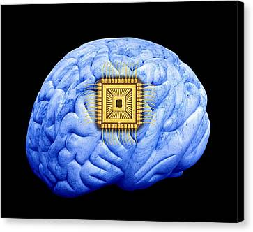 Artificial Intelligence And Cybernetics Canvas Print by Victor De Schwanberg