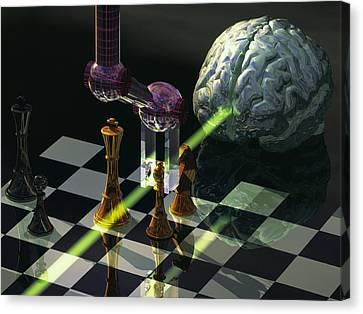 Artificial Intelligence Canvas Print by Laguna Design