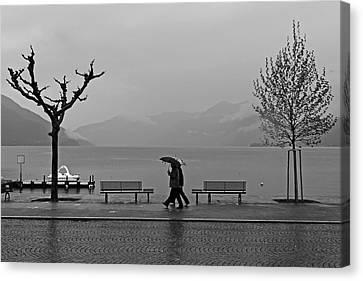 Ascona With Rain Canvas Print by Joana Kruse