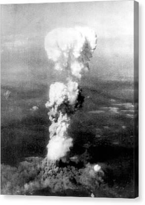 Atomic Bomb. A Mushroom Cloud Rises Canvas Print by Everett