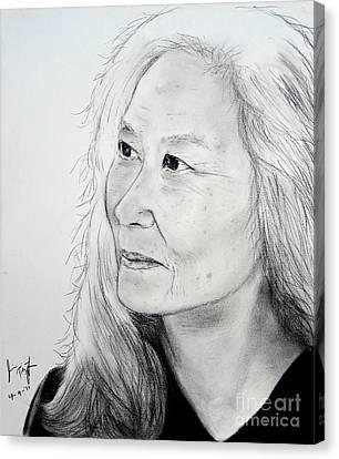 Author And Activist Maxine Hong Kingston Canvas Print by Jim Fitzpatrick