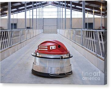 Automated Feed Pusher Canvas Print by Jaak Nilson
