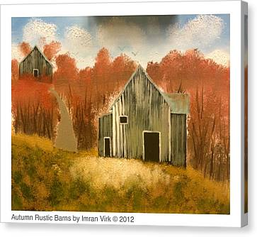 Autumn Rustic Barns Canvas Print by Imran Virk