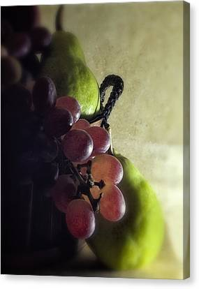 Back Lit Grape Still Life Canvas Print by Andrew Soundarajan