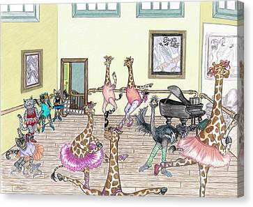 Ballet Practice Canvas Print by SiSter Art