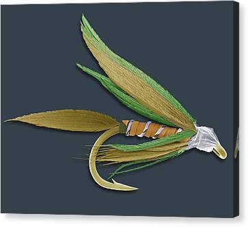 Barbed Fishing Fly, Sem Canvas Print by Steve Gschmeissner