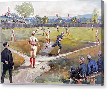 Baseball Game, C1887 Canvas Print by Granger