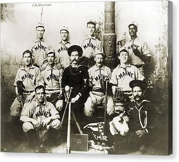 Baseball Team, C1898 Canvas Print by Granger
