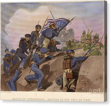 Battle Of Churubusco, 1847 Canvas Print by Granger