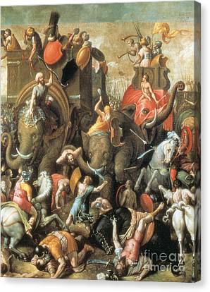 Battle Of Zama Hannibals Defeat Canvas Print by Photo Researchers