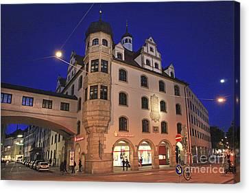 Bavaria Munich At Night  Canvas Print by Amit Strauss