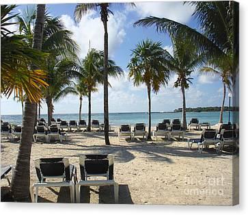 Beach -mayan Riviera- Mexico-yucatan Peninsula Canvas Print by Renata Ratajczyk