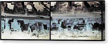 Before And After Hurricane Eloise 1975 Canvas Print by Science Source