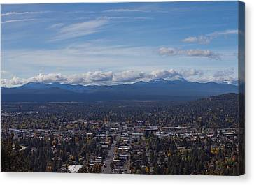 Bend Oregon From Pilot Butte Canvas Print by Twenty Two North Photography