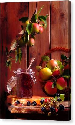 Blackberry And Apple Jam Canvas Print by Amanda And Christopher Elwell