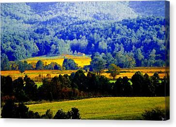 Blue Ridge Canvas Print by David Lee Thompson