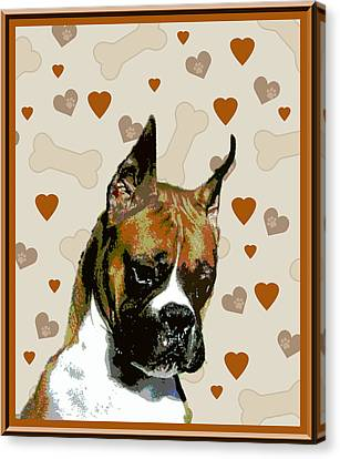Boxer Canvas Print by One Rude Dawg Orcutt