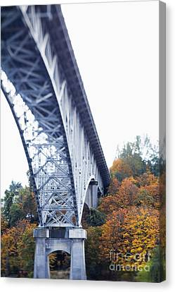 Bridge Footing And Anchor Point Canvas Print by Don Mason