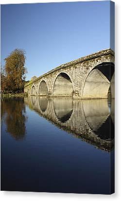Bridge Over River Nore Bennettsbridge Canvas Print by Trish Punch