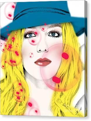 Britney Spears Canvas Print by Mark Ashkenazi