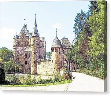 Burg Satsvey Germany Canvas Print by Joseph Hendrix