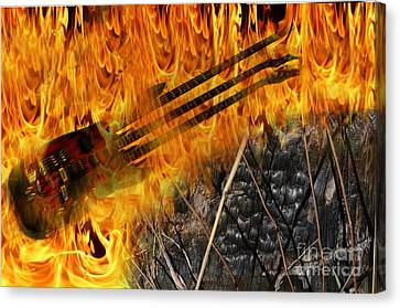 Burning Bridges Canvas Print by The Stone Age
