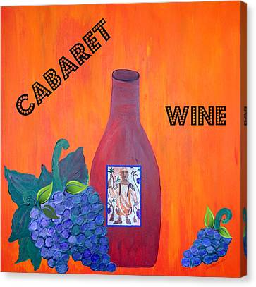 Cabaret Wine Canvas Print by Cynthia Amaral