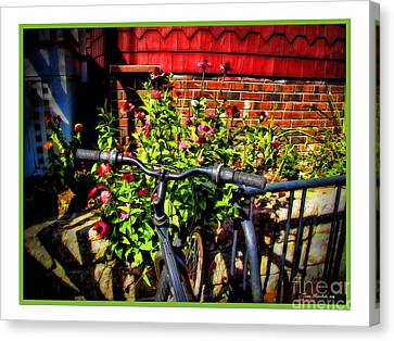 Cape Cod Bike Canvas Print by Joan  Minchak