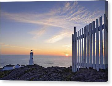 Cape Spear Lighthouse At Sunrise, Cape Canvas Print by Yves Marcoux