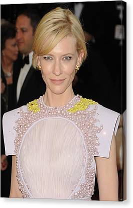 Cate Blanchett Wearing A Givenchy Canvas Print by Everett