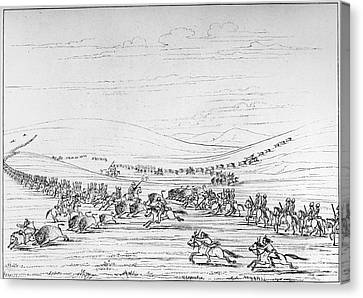 Catlin: Buffalo Hunt Canvas Print by Granger