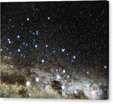 Centaurus And Crux Constellations Canvas Print by Eckhard Slawik